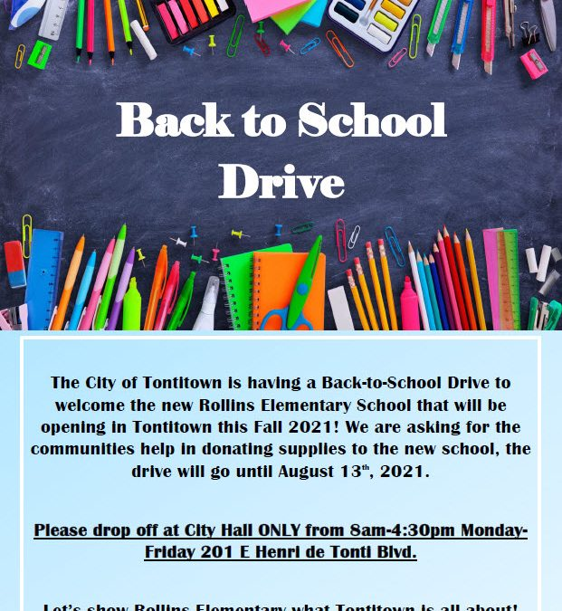 Back-to-School Drive📚✏️